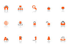 Web and office icons Royalty Free Stock Photos