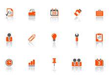 Web and office icons Royalty Free Stock Images