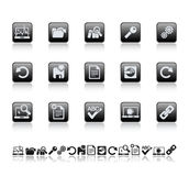 Web and office icons. Vector illustration of web and office icons Stock Photo