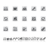 Web and office icons. Vector illustration of web and office icons Royalty Free Stock Photo