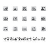 Web and office icons Stock Photography