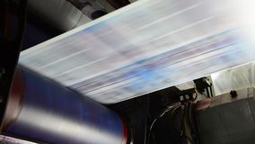 Web Offset Press Printing Newspaper stock video footage
