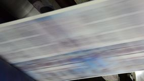 Web Offset Press Printing Newspaper stock footage