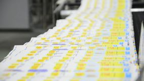 Web Offset Printing Press stock video footage