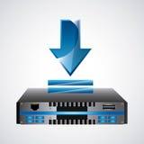 Web ontvangend pictogram Technologieontwerp Grafische vector Royalty-vrije Stock Foto's