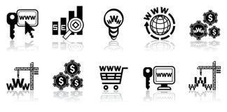 Web-ontwerp pictogramreeks Stock Fotografie