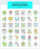 WEB Ontwikkeling en Programmeringspictogrammen Vector Illustratie