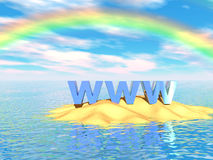 Web op Eiland Stock Fotografie