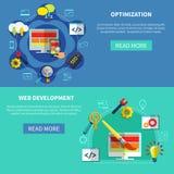 Web Optimization Banners Set Stock Photography