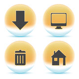 Web orange icons Royalty Free Stock Image