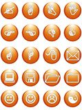 Web orange office signs. Business web orange office signs stock illustration