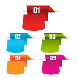 Web origami banners in numbers.Eps.Vector Stock Image