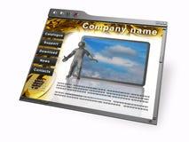 Web page ilustración del vector