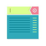 Web Page Abstract Window. Website Page Dimension. Mobile and desktop website design development process in minimalist style, computer system illustration Royalty Free Stock Images