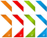 Web Page Corner Ribbons Stock Images