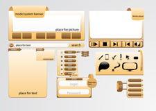 Web page design Stock Photo