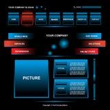 Web page design. Modern Web site design template Stock Image