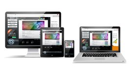 Web page design concept Stock Photo