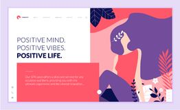 Web page design template for beauty, spa, wellness, natural products, cosmetics, body care, healthy life Stock Photography
