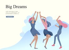 Free Web Page Design Template For Beauty Dreams, International Womens Day, Girls Power, Wellness, Body Care, Healthy Life Royalty Free Stock Image - 143135716
