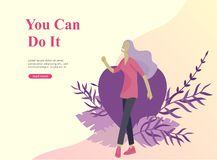 Free Web Page Design Template For Beauty, Dreams Motivation, International Womens Day, Feminism Concept, Girls Power And Stock Images - 154804754