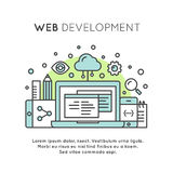 Web Page Development Process Royalty Free Stock Photos