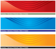 Web page header Stock Images