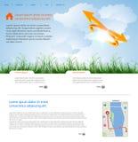 Web page layout. Web page art layout concept Stock Photo