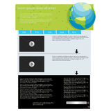 Web page layout template. Video feature web page layout, abstract art Stock Image