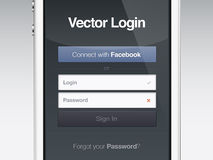Web page login password security screen Stock Images