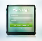 Web page login password security screen Royalty Free Stock Image