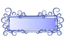 Web Page Logo Blue Swirls Royalty Free Stock Photo