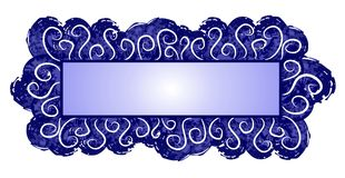 Web Page Logo Dark Blue Swirls stock illustration