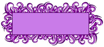 Web Page Logo Purple Swirls. An isolated rectangle and square shaped logo, label, sticker or decorative template element in dark and light purple colors and Stock Photos