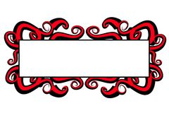 Web Page Logo Red Black Swirls Stock Images