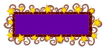 Web Page Logo Stars Swirls royalty free illustration