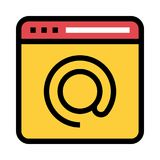 Web page mail color line icon vector illustration
