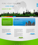 Web page nature layout. Design Royalty Free Stock Images
