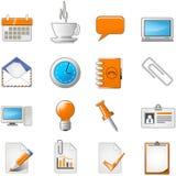 Web page o insieme dell'icona di tema dell'ufficio Immagini Stock Libere da Diritti