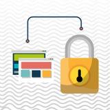 web page padlock secure Royalty Free Stock Photos
