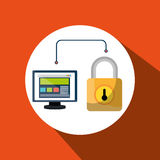 web page padlock secure screen Stock Photography
