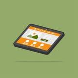 Web page tablet 3D vector illustration royalty free illustration