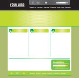 Web page template. Concept and design web page layout template Royalty Free Stock Images