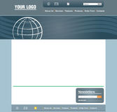 Web page template. Concept and design web page layout template Royalty Free Stock Photography