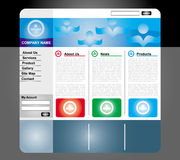 Web page template Royalty Free Stock Photo