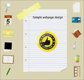 Web page template. With detailed icons Stock Photography