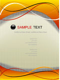 Web page template. Abstract background, web page template, vector, yellow-orange tone Royalty Free Stock Image