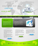 Web page template design. For business homepage Stock Image