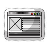 Web page template icon. Illustration design Stock Photos