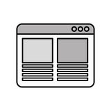 Web page template isolated icon. Illustration design Royalty Free Stock Image